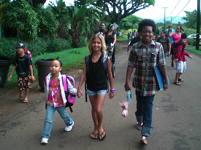 Koloa Walk to School Day