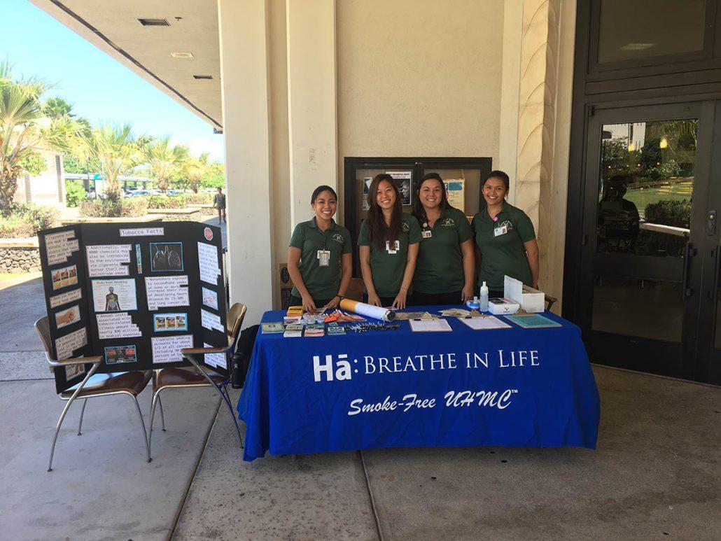 Nursing Students promote a Smoke-Free UHMC