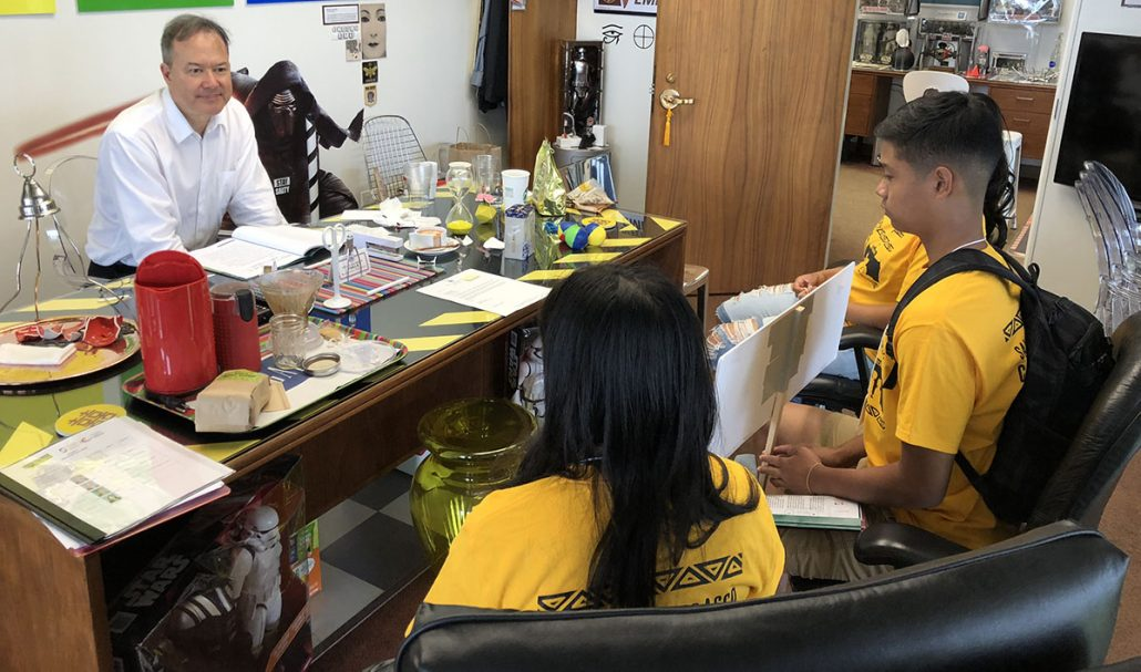 Youth advocates meet with Rep. Brower