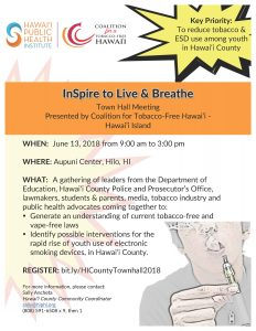 InSpire to Live and Breathe @ Aupuni Center | Hilo | Hawaii | United States