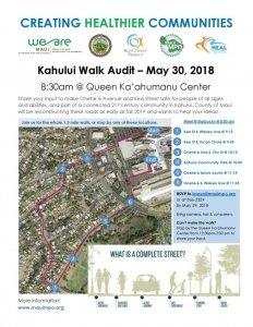 Creating Healthier Communities: Kahului Walk Audit @ Queen Kaʻahumanu Center | Kahului | Hawaii | United States