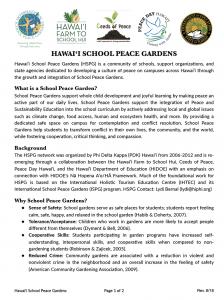 Hawaii School Peace Gardens