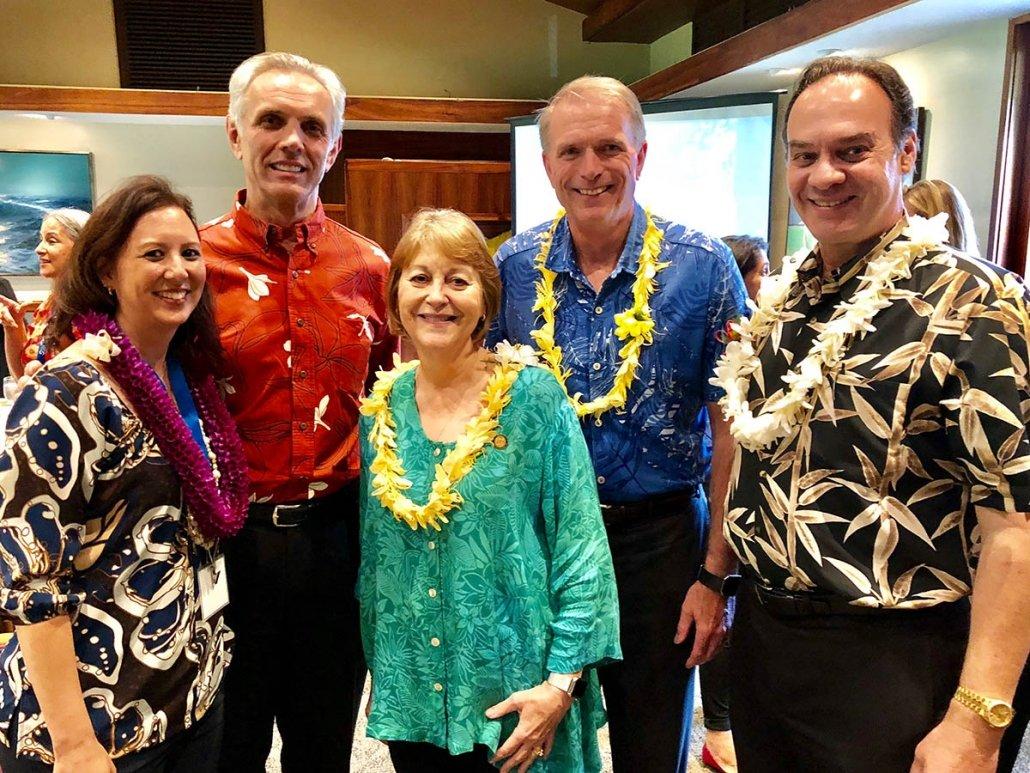 Jessica Yamauchi, Senator Rosalyn Baker, David Underriner (Kaiser Permanente), Frank Richardson (Kaiser Permanente)