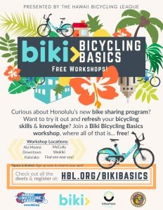 Biki Bicycling Basics (Waikīkī Edition) @ Waikīkī-Kapahulu Public Library | Honolulu | Hawaii | United States