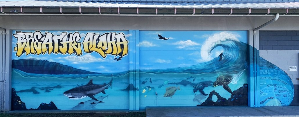Kealakehe High School Breath Aloha Mural