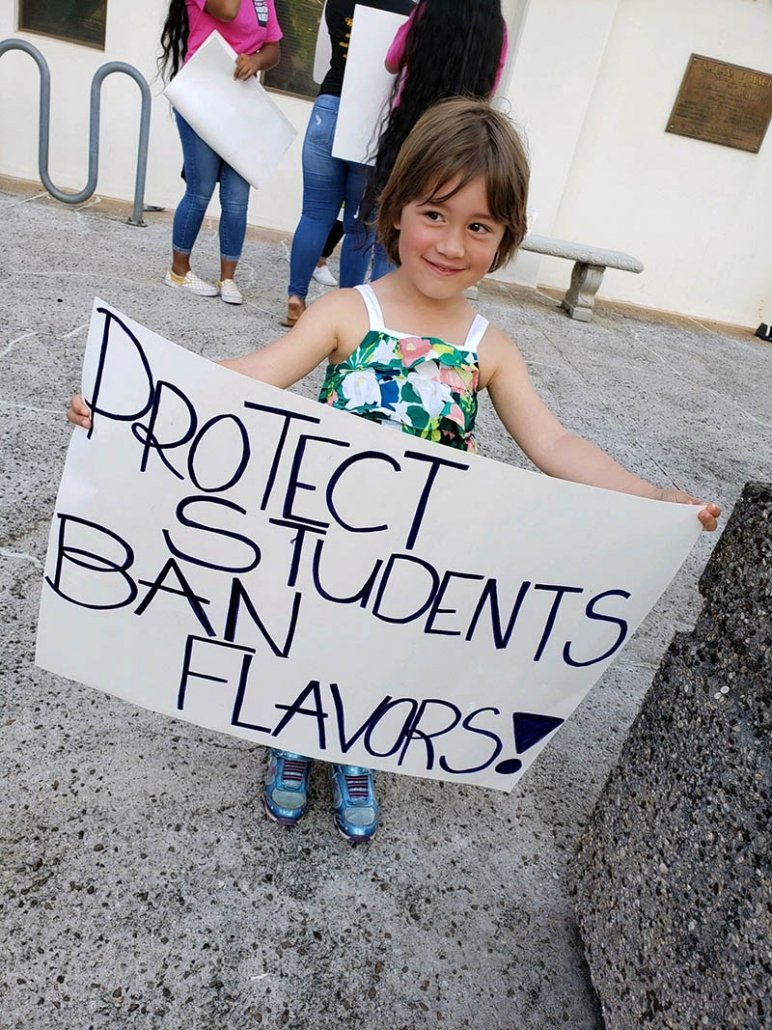 Little Ruby represents at Maui's Kick Butts Day 2019