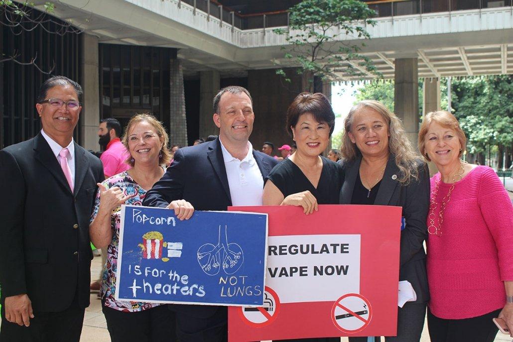 Rep Tokioka, LG, First Lady, Rep Decoite & Sen. Baker show their support