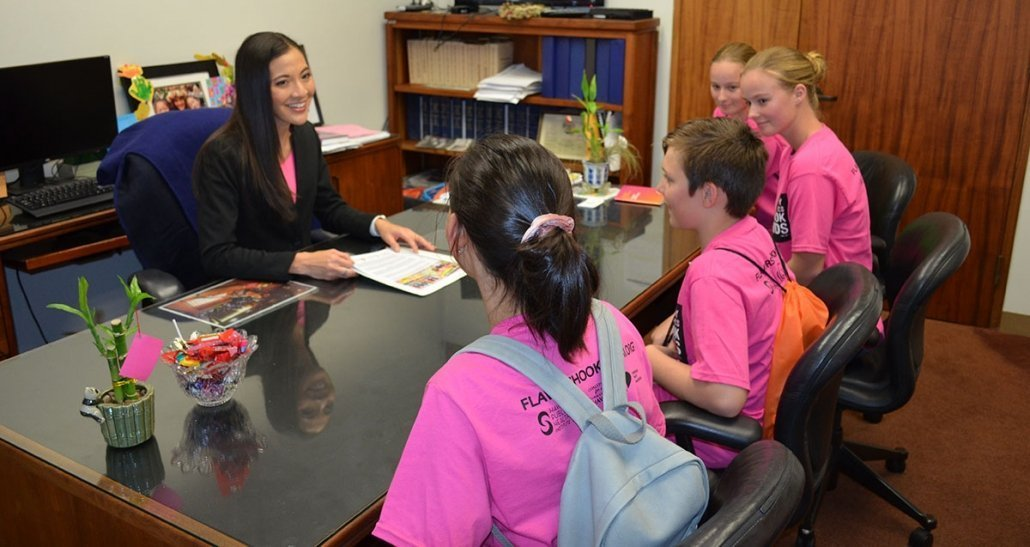 Youth Council members meet with Rep. Val Okimoto
