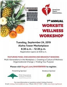 7th Annual Worksite Wellness Workshop @ Aloha Tower Marketplace | Honolulu | Hawaii | United States
